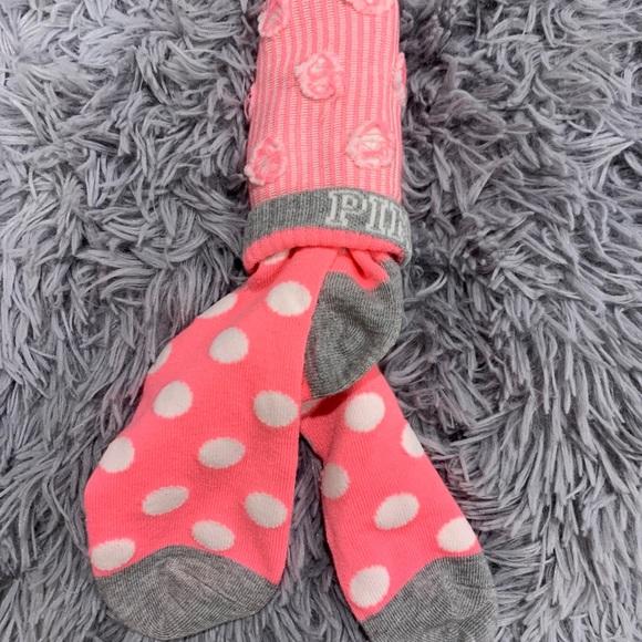 Pink brand knee high socks